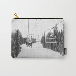 """Ski Lift"" Deep Snow Season Pass Dreams Snowy Winter Mountains Landscape Photography Carry-All Pouch"