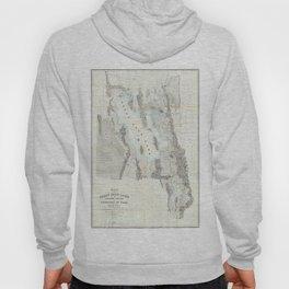 Vintage Map of The Great Salt Lake (1852) Hoody