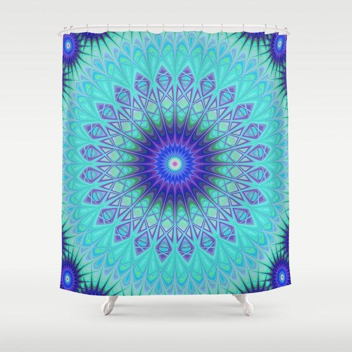 Frozen Mandala Shower Curtain