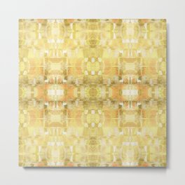 Babalon - Geometric Watercolor Gold Foil Metal Print