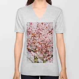 Cherry Blossom Tree (Color) Unisex V-Neck