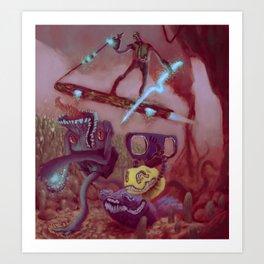 Red planet illustration Art Print