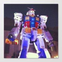 gundam Canvas Prints featuring Gundam by CDina Photography