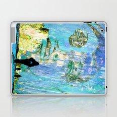Castaneda and the kids - blue Laptop & iPad Skin