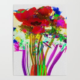 Belle Anemoni or Beautiful Anemones Poster