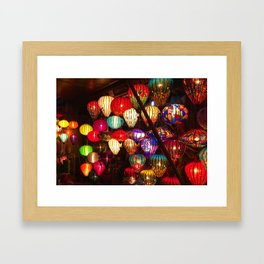 To be a lantern in the dark. Framed Art Print