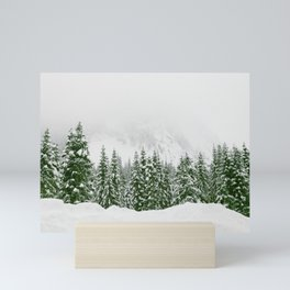 Snow Trees Forest Mini Art Print