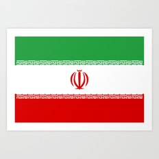 National flag of the Islamic Republic of Iran - Authentic version Art Print