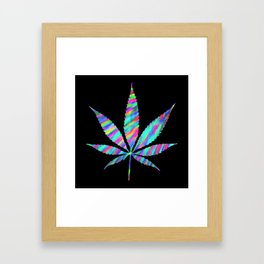 Weed : High Time Colorful Psychedelic Framed Art Print
