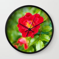 moulin rouge Wall Clocks featuring ROUGE by Allison Newcomer