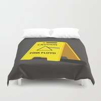 floyd Duvet Covers featuring Pink Floyd by gunberk