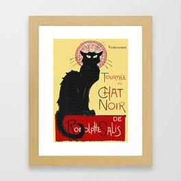 Tournee Du Chat Noir - 1896 Poster Framed Art Print