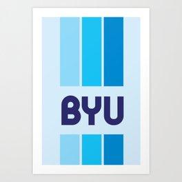 BYU Cool Blue Art Print