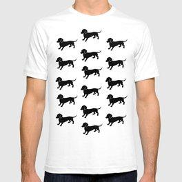 Dachshund Pattern T-shirt