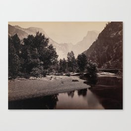 Distant View of the Domes, Yosemite Valley, California Canvas Print
