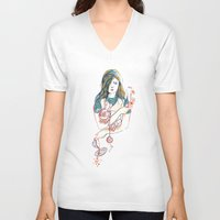 alice V-neck T-shirts featuring Alice by Picomodi