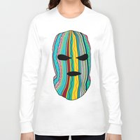 ski Long Sleeve T-shirts featuring Ski Mask by Tribes Co.