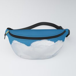 White cloud and blue sky Fanny Pack