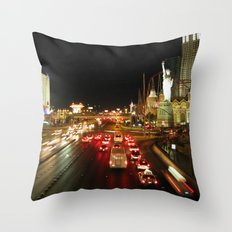 Las Vegas Strip Throw Pillow