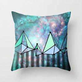 intergalactic mountains (collab) Throw Pillow