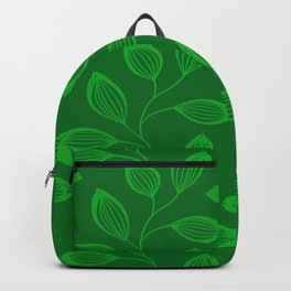 Climbing Leaves In Sage Green and Lime Backpack