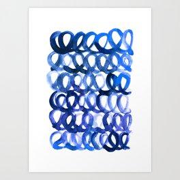 Breaking the waves Art Print