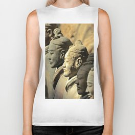Chinese Terracotta Warriors Biker Tank