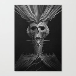 Skeleton Lady Canvas Print