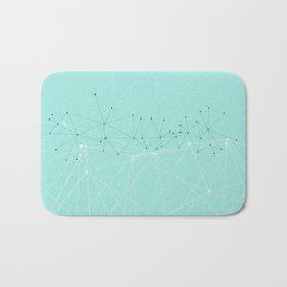 LIGHT LINES ENSEMBLE IX TURQUOISE Bath Mat