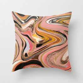 EttaVee Marble no.1 Throw Pillow