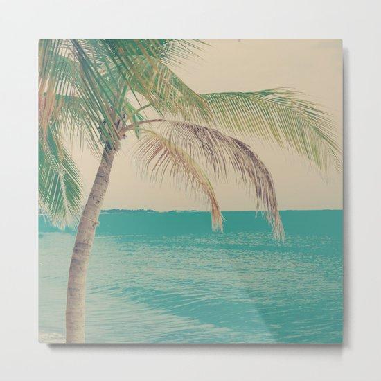 Coco Palm in the Beach  Metal Print