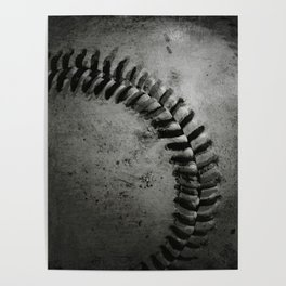 Black and white Baseball Poster