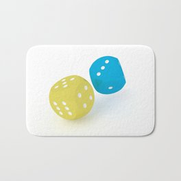 Rolling dices #3 Bath Mat