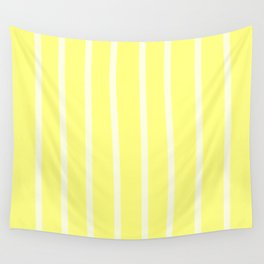 Butter Vertical Brush Strokes Wall Tapestry