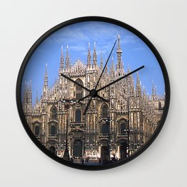 Vintage 1940's Color Photo Duomo di Milano Wall Clock