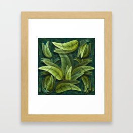 """Retro Tropical Tiki Fantasy 02"" Framed Art Print"