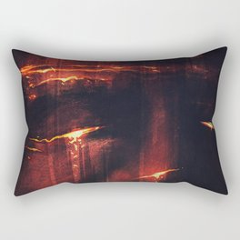 Red I Rectangular Pillow