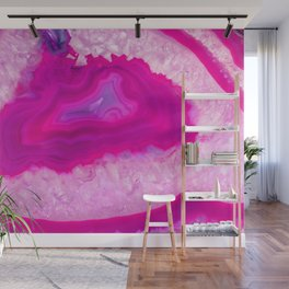 Pink ectoplasm agate Wall Mural