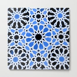 Moroccan Zellige pattern Metal Print