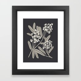 Boho Botanica Black Framed Art Print