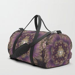 Bohemian Ruffled Feathers & Lavender Gypsy Flowers Duffle Bag