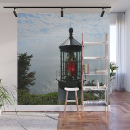 The Red Beacon On Tillamock Bay Wall Mural