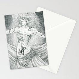 Ritual dancer Stationery Cards