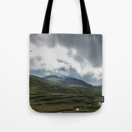 Scottish Mountains with Rain Clouds Tote Bag