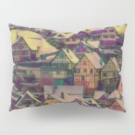 Rustic winter scene A Pillow Sham