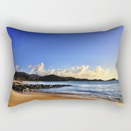 Antigua & Barbuda - Turquoise Water on the Beach in the Fading Afternoon Sun Rectangular Pillow