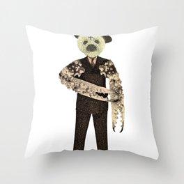 Evil Manager Throw Pillow