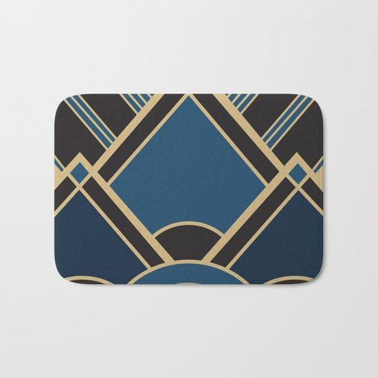 Art Deco New Tomorrow In Blue Bath Mat