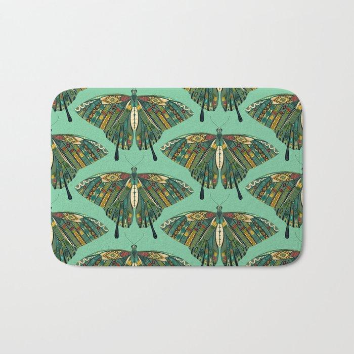 swallowtail butterfly emerald Bath Mat