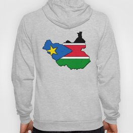 Sudan Map with Sudanese Flag Hoody